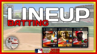 MAKING THE PERFECT LINEUP In MLB Perfect Inning 19
