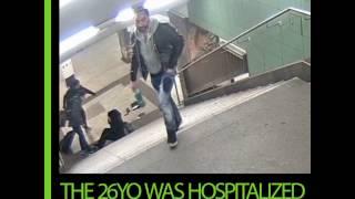 Thug kicks woman down subway stairs in Germany
