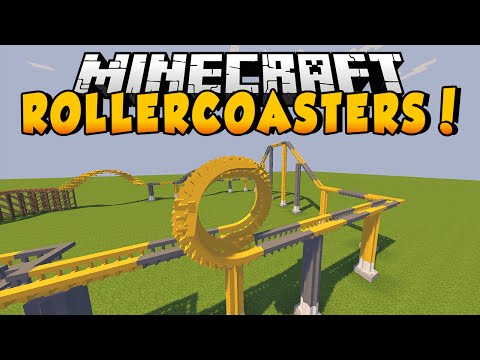 Thumbnail: Minecraft Mods - ROLLERCOASTERS MOD! (Customize, Build, & Color!) - Mod Showcase