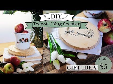 DIY Teapot / Mug Coaster | Farmhouse Style | Gift Idea!