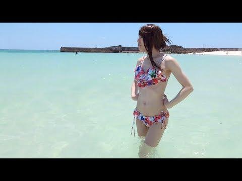 【ビキニでビーチ☆伊良部島編】渡口の浜っていうビーチに行ってきました(beach+bikini)