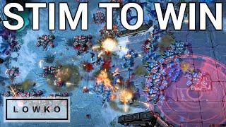 StarCraft 2: STIM TO WIN! (HerOMaRinE vs Clem)