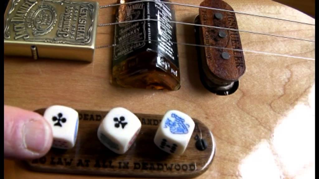 3 STRING CIGAR BOX INSPIRED GUITAR WITH JACK DAINELS BRIDGE THE ...