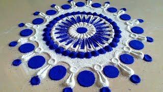 Video Beautiful Simple rangoli designs || Best kolam designs || Muggulu painting designs by Maya! download MP3, 3GP, MP4, WEBM, AVI, FLV Juni 2018
