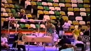 Pommel horse - dismount salto backward