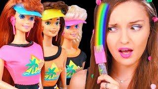 КРАШУ ВОЛОСЫ гелем 1993 года Барби с блестками✨Обзор/распаковка Glitter Hair Barbie 90-х