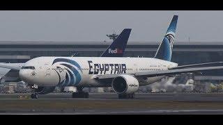 ✈✈エジプト航空 (EgyptAir) Boeing 777-36N/ER SU-GDM Takeoff Narita RWY16R!成田空港 さくらの山