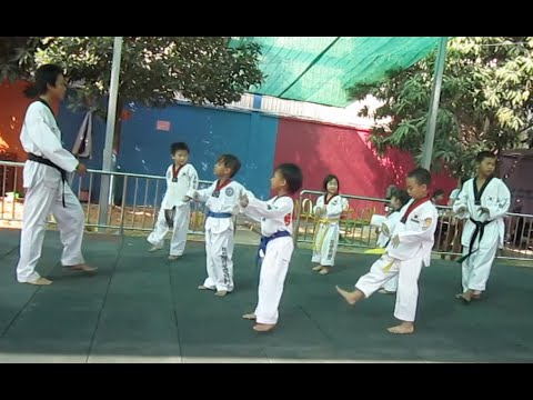 Taekwondo Students at Golden Bridge International School of Phnom Penh