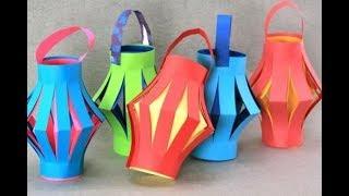 DIY | Paper Lantern / Kandil | How To make Kandil | Diwali Kandil | Paper Craft Mania