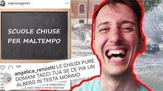 SCUOLE CHIUSE PER IL MALTEMPO - LA REAZIONE DEGLI STUDENTI SUL WEB thumbnail