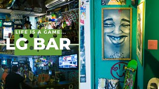 Enjoy Hip Hop bar with artistic graffiti at LG Bar, Shinjuku
