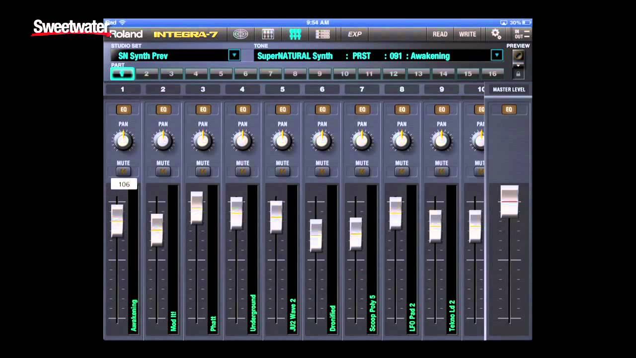 Roland INTEGRA-7 Sound Module iPad Editor Demo - Sweetwater Sound
