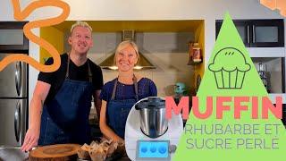 Muffin à la rhubarbe au Thermomix