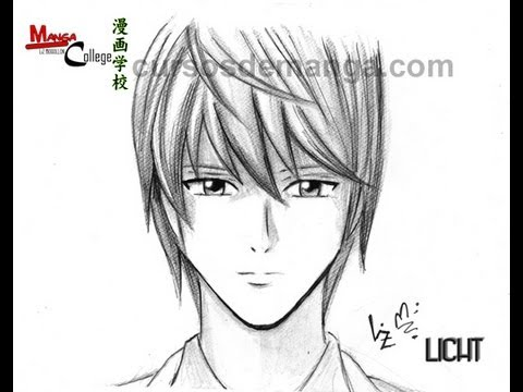 How To Draw Anime Manga Light Of Death Note Youtube