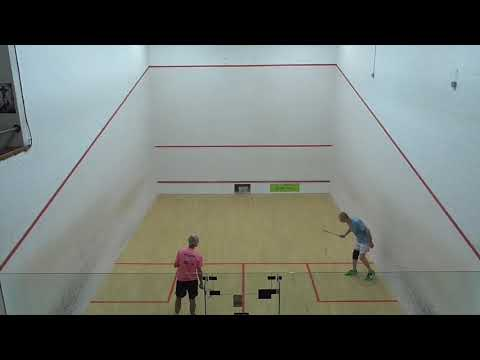 Masters squash MO50 Final David Youngs NOR v Andrew Cross DCL