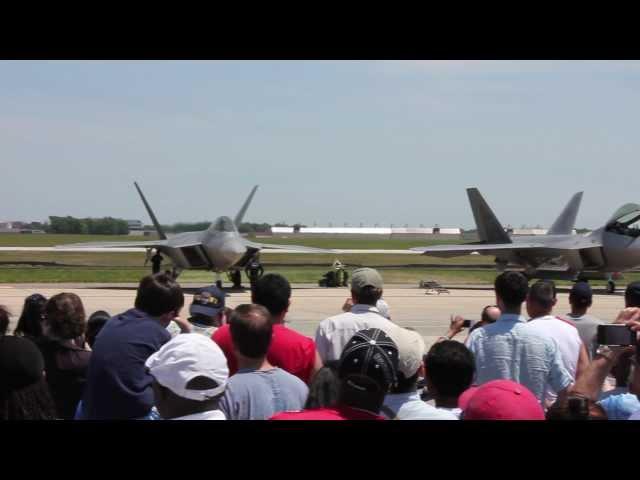 The Lockheed Martin/Boeing F-22 Raptor at JSOH 2012