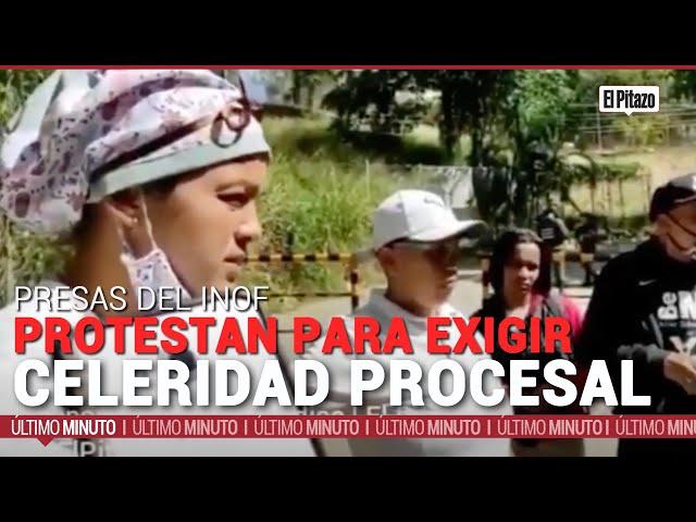 Presas del Inof protestan para exigir celeridad procesal
