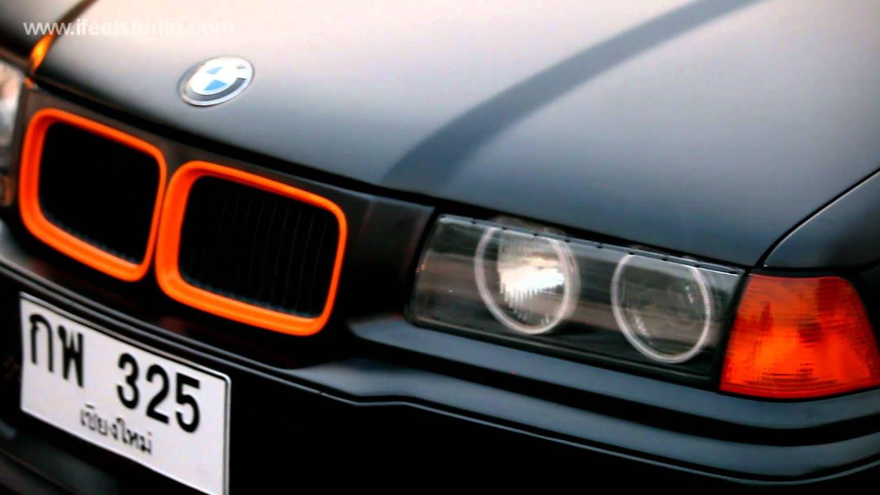 Bmw E36 Black Orange Burn Youtube