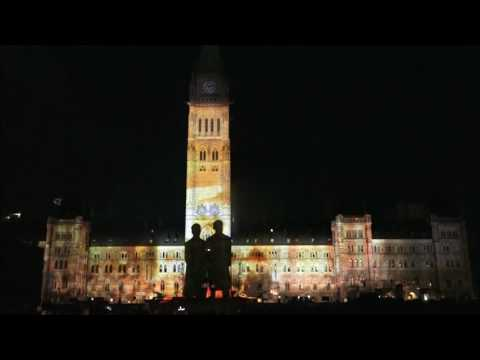 Ottawa   Parliament   Hill   Northern   Lights   Show   2016  -  Vlog