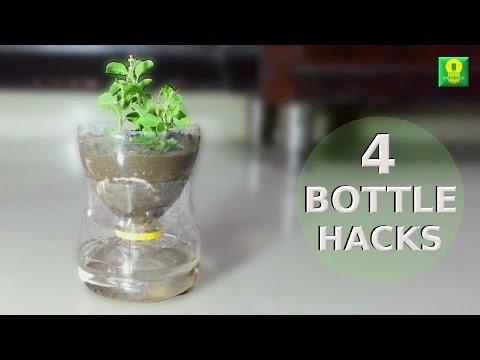 4 Awesome Ideas using plastic bottles   Life Hacks