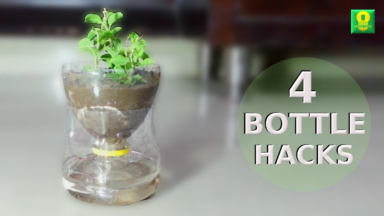 4 Awesome Ideas Using Plastic Bottles Life Hacks Youtube
