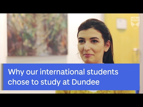 Learn why our international students choose to study at the University of Dundee