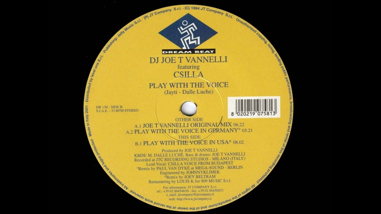 Joe T. Vannelli – Play With The Voice
