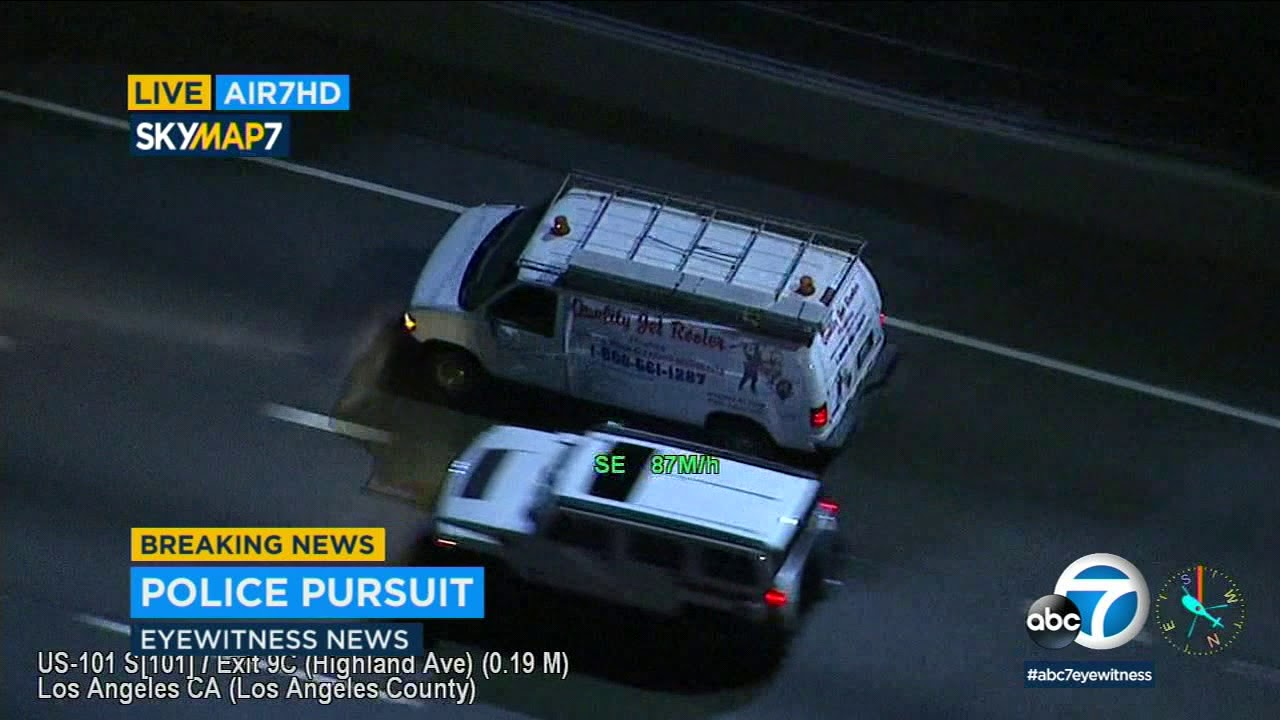 POLICE CHASE: Stolen-car suspect leads police on wild pursuit into  Hollywood | ABC7