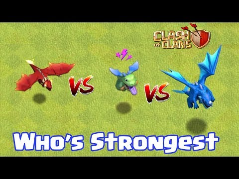 ELECTRO DRAGON VS BABY DRAGON VS DRAGON | WHO's STRONGEST | CLASH OF CLANS |
