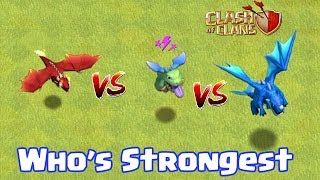 ELECTRO DRAGON VS BABY DRAGON VS DRAGON | WHO