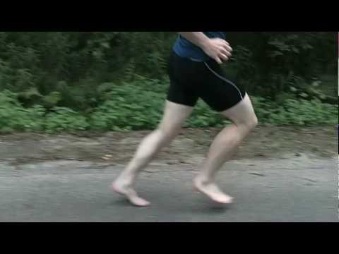 Me running barefoot with some slow motion