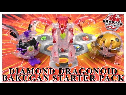 DIAMOND DRAGONOID ULTRA STARTER PACK!! Bakugan Battle Planet Diamond Unboxing Marathon Part 3