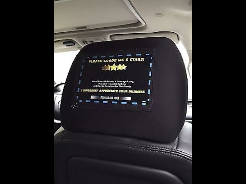 Uber / Lyft Tipping Headrest Covers and Cards