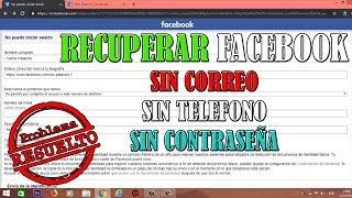 Como Recuperar Tu Facebook Sin Correo Sin Teléfono Y Sin Contraseña Resuelto Youtube