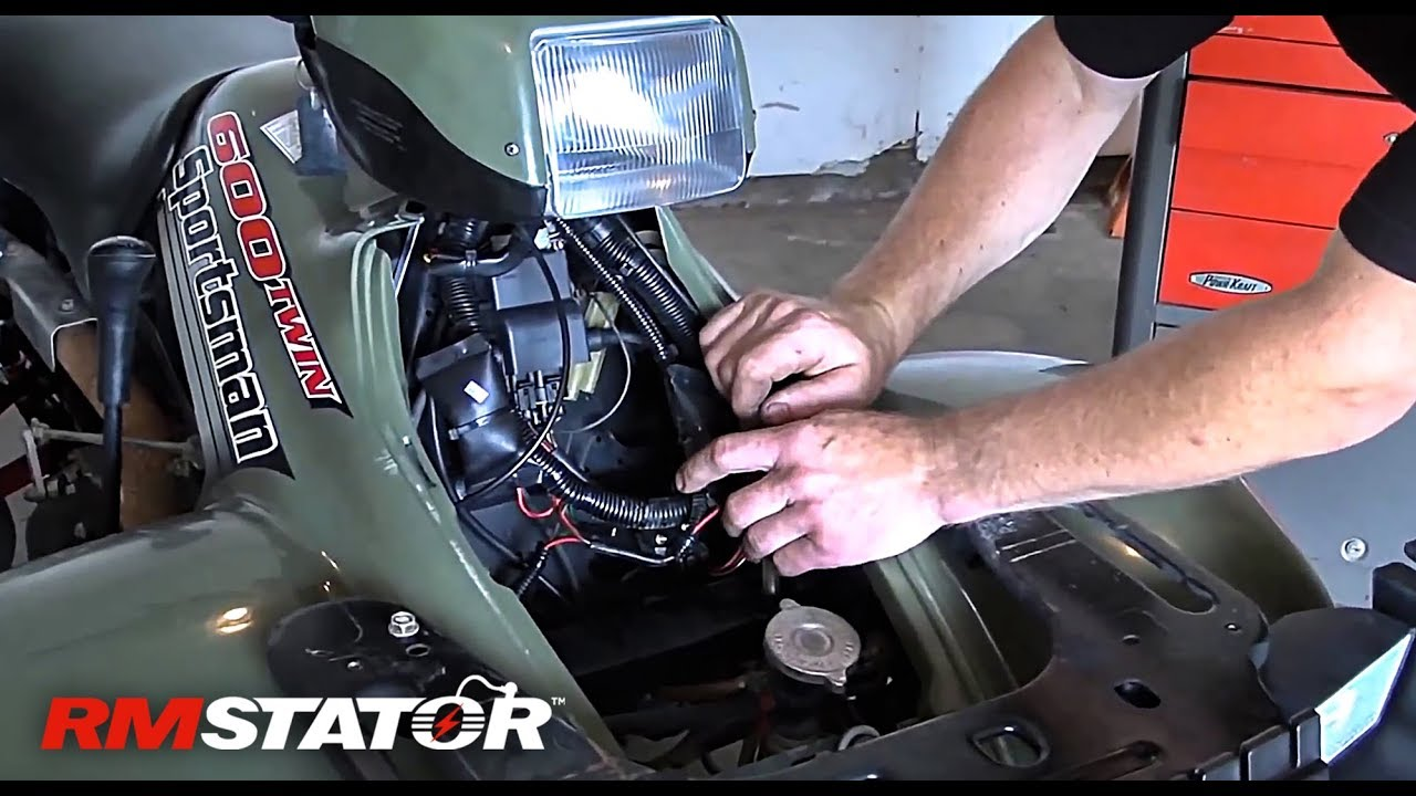 polaris sportsman 600 / 700 2002-2006 ac/dc upgrade kit for stator + cdi  installation instruction