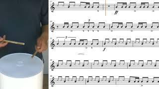 Havana Bucket Drumming with Sheet Music Notes | Soundslice - Edited