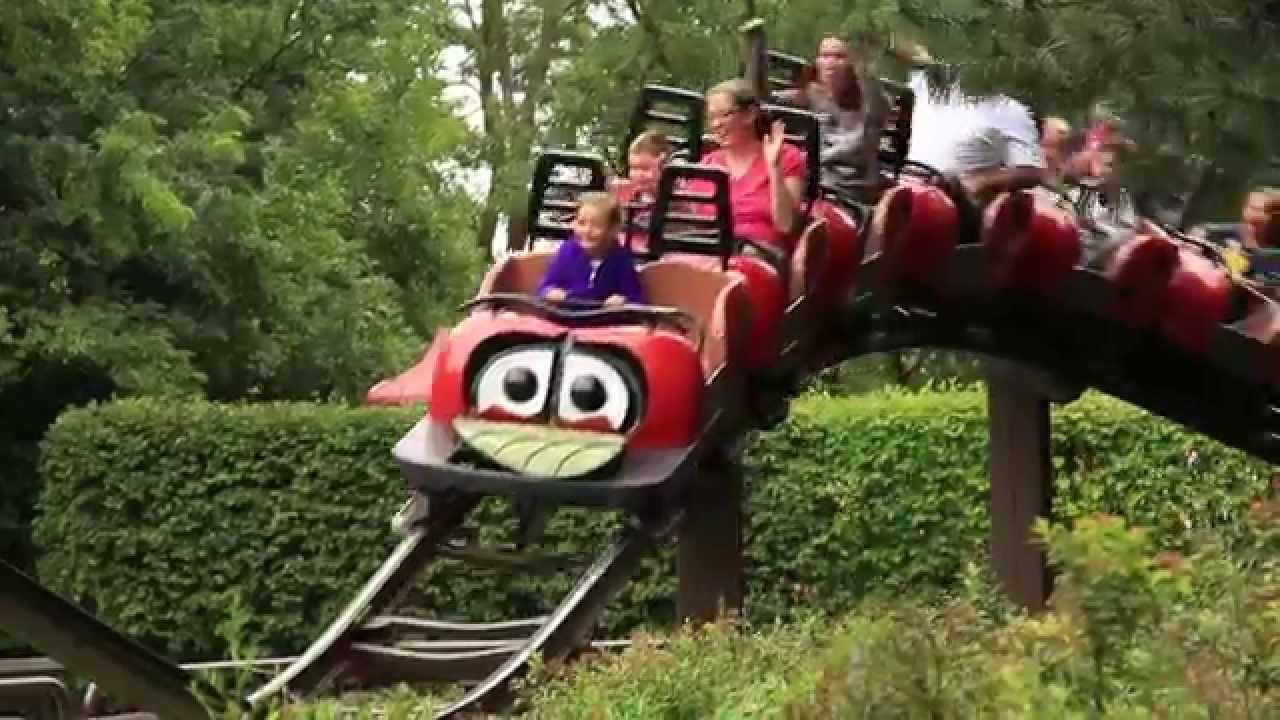 Lady Bug Coaster at Marineland Canada - YouTube