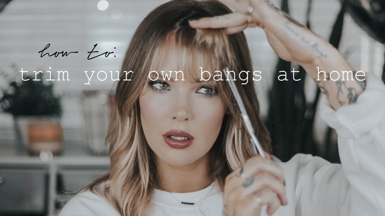 How To Cut Your Bangs At Home For Beginners In 2020