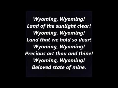 WYOMING OFFICIAL STATE ANTHEM SONG LYRICS WORDS BEST TOP POPULAR FAVORITE TRENDING SING ALONG SONGS