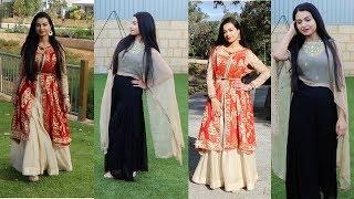 DIY:How to wear Dupatta as Jacket | stylish Jacket | Long Cape | Old Dupatta Reuse