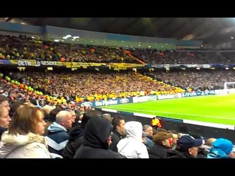 Borussia Dortmund fans bouncing at Man City