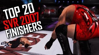 WWE Smackdown vs RAW 2007 - Top 20 Finishers! (SVR 07 Finishing Moves Countdown)