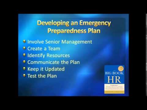 Developing an Emergency Preparedness Plan