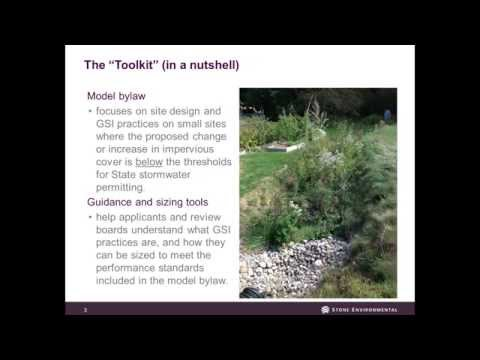 Green Stormwater Infrastructure Simplified Sizing Tool for Small Projects