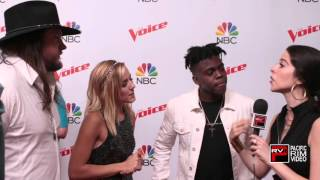 The Voice Top 12 Introducing Team Blake: Adam Wakefield, Mary Sarah and Paxton Ingram