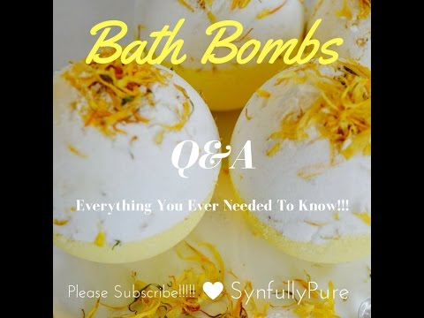 Bath Bombs: Everything you need to know!!!!