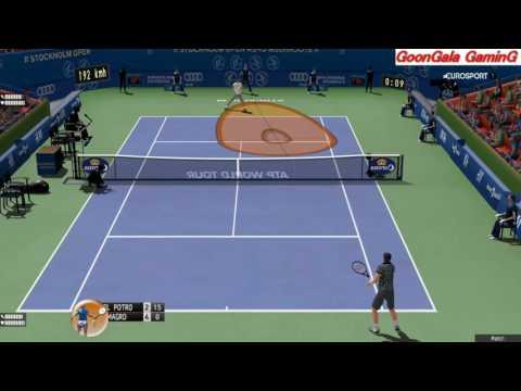 Del Potro vs Almagro | if Stockholm Open 2016 | 60 fps HD Tennis Elbow PC Gameplay