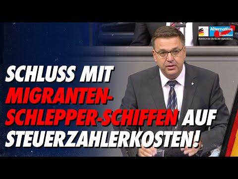 Schluss mit Migranten-Schlepper-Schiffen auf Steuerzahlerkosten! - Volker Münz - AfD-Fraktion