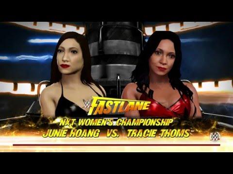 WWE 2K16 Tracie Thoms Vs Junie Hoang NXT Women's Championship
