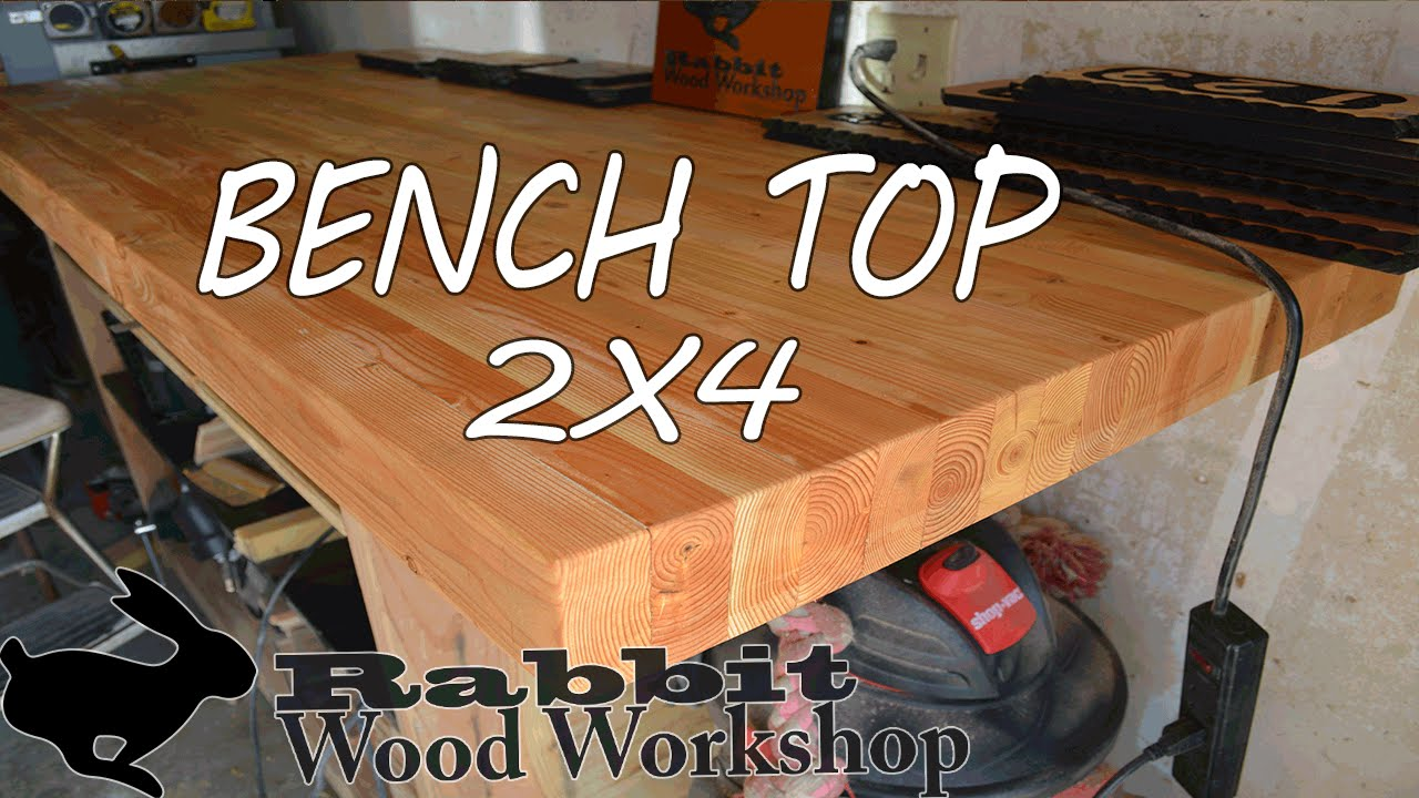 Build A Bench Top With 2x4 S Youtube